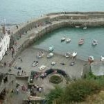 Clovelly, The Red Lion Hotel and the Harbour Wall