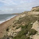 Hordle Cliff, coastal erosion
