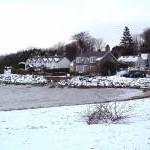 The beach at Rockcliffe in the snow