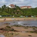 Coldingham Sands on a lovely summer's day