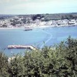 View from St Michael's Mount to Marazion 1969