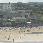 Porthmeor Beach and The Tate Gallery