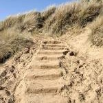 Sand steps in the dunes
