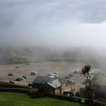 Mist at Saunton Sands Carpark