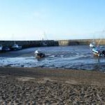 Fisherrow Harbour at Low Tide