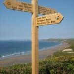 South West Coast Path signpost, Tregantle