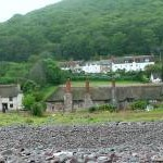 Thatched cottages at Porlock Weir