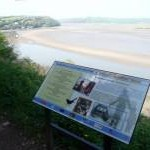 Information board on Dylan's Birthday Walk, Laugharne