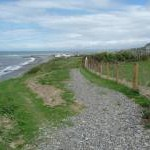 The coast path approaching Aberaeron from the south-west