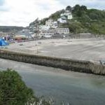 Beach and harbour wall, Looe
