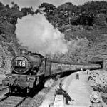 'Torbay Express' emerging from Parson's Tunnel, between Dawlish and Teignmouth