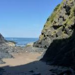 Very small beach at Aberporth
