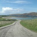 The road to Scourie beach
