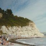 Chalk cliffs at the north east end of Beer Beach