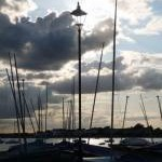 Mudeford: lamppost and masts
