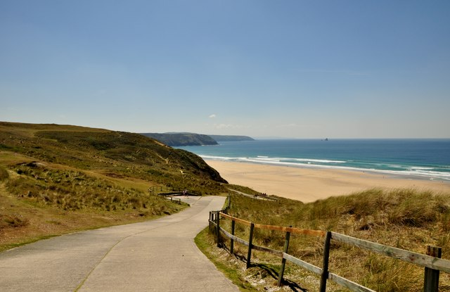 Perran Sands Beach Dog Friendly
