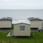 Embo: view over caravans to the beach