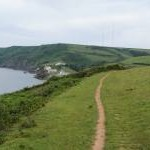 Coastal path approaching Hallsands