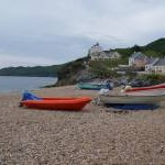 Beached boats at Hallsands