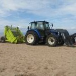 Cleaning the beach at Gullane