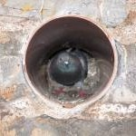 Pigeon in a pipe