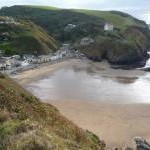 Part of Llangrannog village and beach