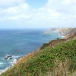 View Northeast from North Cliffs towards Portreath, Cornwall
