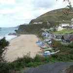 Part of Tresaith village and beach