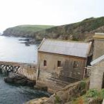 Former lifeboat station Polpeor Cove, Lizard peninsula