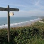 Coast path on Tregantle Cliff