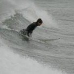 Surfing off Sandend