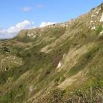 White Nothe undercliff from the Smugglers Path