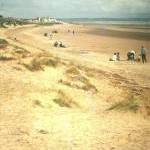 Sand dunes and beach at Greatstone in 1972