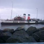 Waverley attempting to berth at Helensburgh