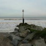 End of the northern groyne, Mappleton