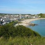 View to Porth Cressa Beach, Hugh Town