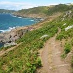 Coast Path below Deckler's Cliff