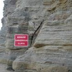 Warning sign at Staithes