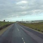 Lydd Road south of Camber Sands Holiday Park