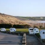 Benches at Woolacombe beach