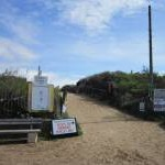 The beach access at Anderby Creek