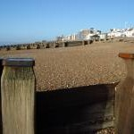 Sea Groynes on Bexhill Beach