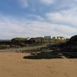 Sea and beach access from caravan site