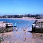 Newquay Beach and Harbour 1975