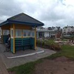 Beach shelter on Paignton sea front