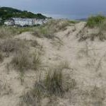 Sand dune on Aberdovey beach