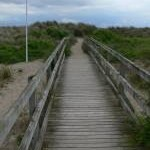 Boardwalk leading to Aberdovey beach