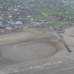 Sand Racing at Mablethorpe, aerial