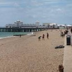 Southsea beach and pier