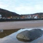 sandsend from the beach